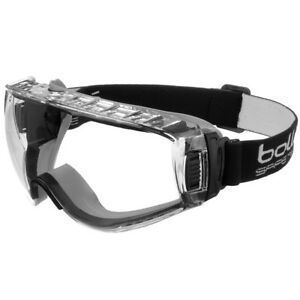 Bolle Pilot Safety Protective Goggles Clear Chemical Dust Automotive Lab