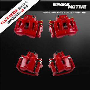 Front And Rear Red Brake Calipers For 300 300s Challenger Charger Magnum