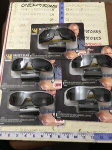5 Pack 3m Holmes Black Frame W Tinted Scratch Resistant Polarized Safety Glass