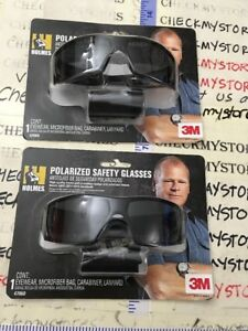 2 Pack 3m Holmes Black Frame W Tinted Scratch Resistant Polarized Safety Glass