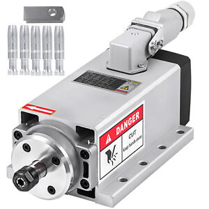 Cnc 1 5kw Air Cooled Spindle Motor Er11 24000rpm Air Cooled Mill Grind Engraving