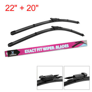 22 20 Exact Fit Front Windshield Wiper Blades For 2009 2017 Ford Mustang