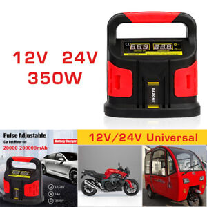 Car Vehicle Battery Charger Auto Lcd Jump Starter Booster Portable Power Pack Us