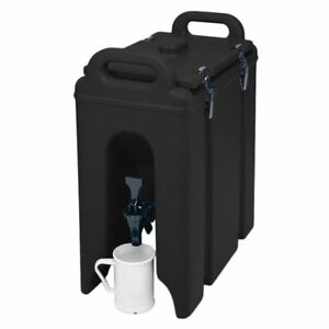 Cambro 250lcd110 Black 2 5 Gal Beverage Camtainer