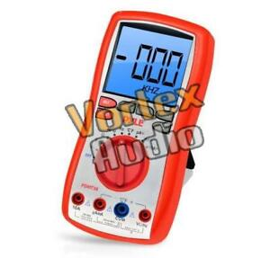 New Pyle Pdmt38 Digital Lcd Ac Resistance Range Multimeter W Rubber Case Stand