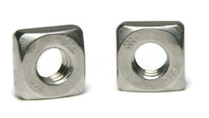 316 Stainless Steel Square Nuts All Sizes Qty 100