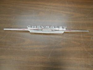 1962 Chevy Ii Nova Ss Rear Trunk Panel Emblem Ornament Original Gm 518