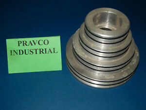 8 Groove Aluminum Step Pulley Sheave 6 Outside Diameter
