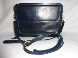 Franklin covey Navy Blue Full grain Leather Classic Zip Purse Planner