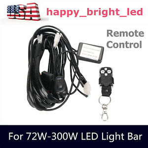 Remote Control Wiring Harness Fuse Switch Relay 2lead Led Flash Strobe Universal