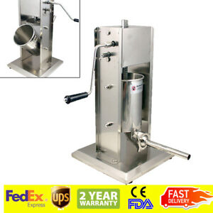 usps 15 Lbs 5l Commercial Sausage Stuffer Meat Filler Press Stainless Steel