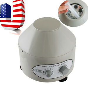 Electric Centrifuge Machine Lab Practice 4000rpm W 6x 20ml Rotor Usa Ship