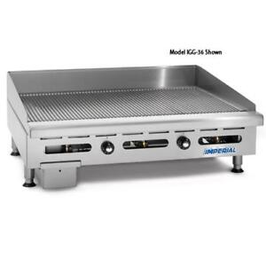 Imperial Igg 48 48 Grooved Gas Griddle
