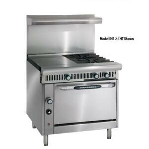 Imperial Ihr 4 1ht c Diamond 36 In Range W 4 Burners Hot Top Convection Oven