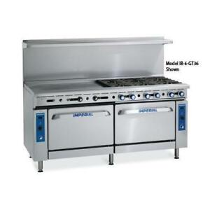 Imperial Ir 2 g60 cc 72 In Range W 2 Burners Griddle 2 Convection Ovens
