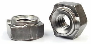 Hex Weld Nuts Steel Long Pilot 3 Projections Unc Coarse Sizes Qty 1 000