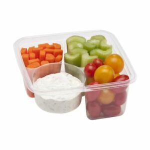 Fabri kal 9509504 3 compartment Compostable Container 300 Cs