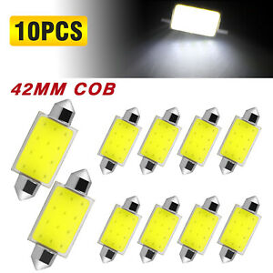 2x White Universal Led License Plate Light For Car Trailer Trucks Screw Bolt On