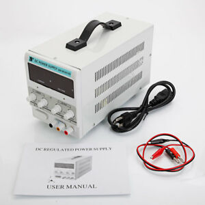 0 30v 0 10a Precision Variable Dc Power Supply W clip Cable Digital Adjustable