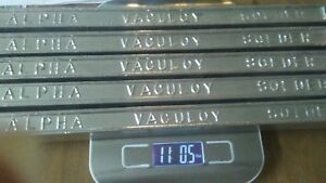 5 Alpha Vaculoy Solder Bars 60 Sn 40 Pb 60 40 2 2lbs Each Total 11lbs