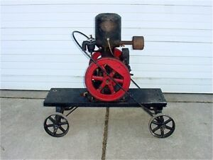 1 1 2 Hp Novo Hit Miss Gas Engine With Wico Magneto Cart