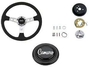 Grant Collector s Steering Wheel installation Kit silver Horn Button For Camaro