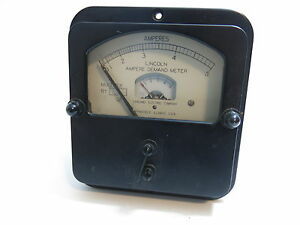 Vintage Lincoln Ampere Demand Meter Ad2 By Sangamo Electric Co Springfield Ill