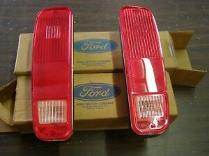 Nos Oem Ford 1973 1979 Truck Pickup Tail Lights 1974 1975 1976 1977 1978 Lenses