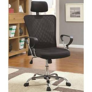 Executive Air Mesh Black Office Chair With Head Rest