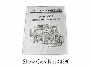 58 59 60 61 62 63 64 65 Chevy Impala Ss Bel Air 348 409 Book Of Numbers And Info