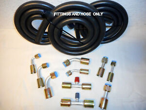Air Conditioning Hose Kit O Ring Fittings Hose Only For General Use hot Rod