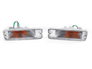 Depo Clear Bumper Signal Light For 1989 1990 Nissan 240sx S13 1990 1992 Stanza