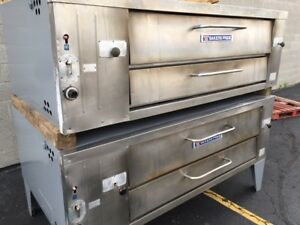 Bakers Pride Y 602 Nat Gas Lp Double Deck Pizza Ovens 550 f Thermostat Y 600