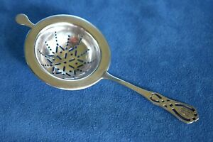 Vintage Frank Whiting Pattern 6013 Sterling Silver 8334 Over Cup Tea Strainer