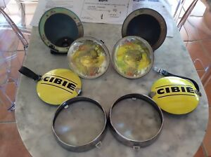 Porsche 911 Nos Original Cibie Hood Lights With Yellow Housings And Cibie Covers