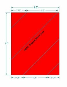 Laser Labels Shipping 100 Labels 8 1 2 X 11 Fluorescent Red Labels