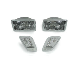 New 1997 2006 Jeep Wrangler Tj Crystal Clear Bumper Lights Led Side Markers