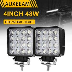 Auxbeam 4 48w Epistar Led Work Light Lamp Boat Tractor Truck Driving Ute 4wd