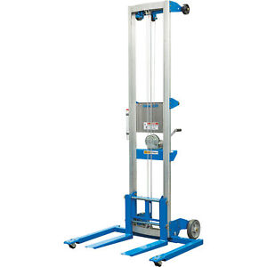Genie Material Manual Lift W straddle Base 10ft Lift 350lb Cap gl 10 Straddle