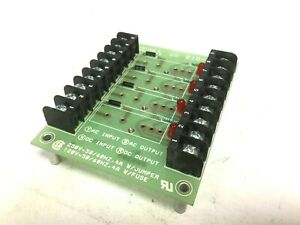Potter Brumfield 2io 4a Solid State Relay Interface Board 4 slots 150 250vac
