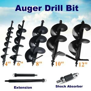 4 6 8 10 12 Auger Bits Drill Shock Absorber Extension For Post Hole Digger