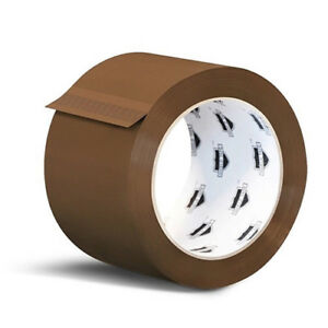 240 Rolls Brown Tan Acrylic Packing Tape Shipping 3 inch Wide 1 8 Mil 55 Yards