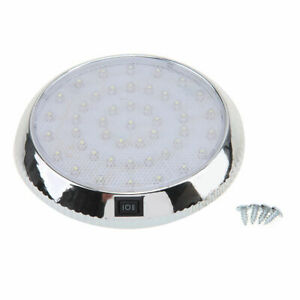 46 Led Round Interior Dome Roof Light Auto Indoor Lamp Universal For Vw Ford Bmw