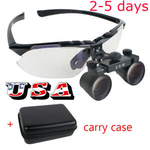 Usa Dental Loupes 2 5x R 360 580mm Surgical Medical Binocular Convenient Case