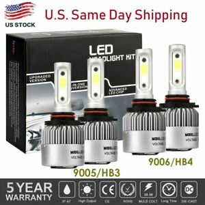 9005 9006 Combo Led Headlight Bulb Kit For Chevy Silverado1500 2500 Hd 2001 2006