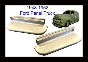 1948 1949 1950 1951 1952 Ford Panel Truck Steel Running Boards New Pair