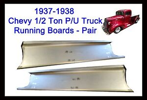 1937 1938 Chevy Gmc Pickup Truck 1 2 Ton Panel Delivery Steel Running Boards