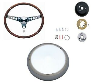 Grant 13 5 Wood Steering Wheel Installation Kit Classic Horn Button For Beetle