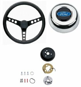 Grant 13 75 Classic Steering Wheel installation Kit chrome Horn Button For F100