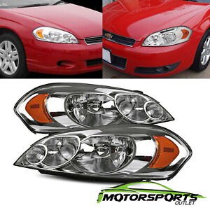 2006 2013 Chevy Impala 2006 2007 Chevrolet Monte Carlo Chrome Headlights Pair